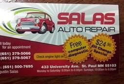 Salas Auto Repair- Minnesota- (651)3795066
